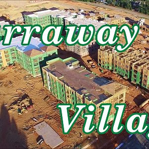 Updated Aerial Views of Carraway Village Construction at NC 86 & Eubanks Rd - Chapel Hill, NC