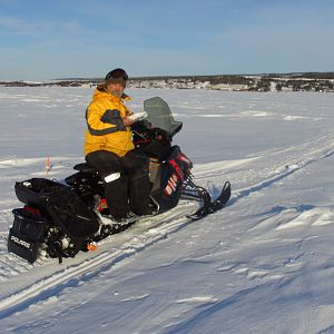 I rode a snowmobile onto the frozen ocean to take the Koyuk shot.