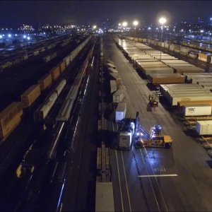 Ships and trains (While you slept) Phantom takes a spin through the docks at night