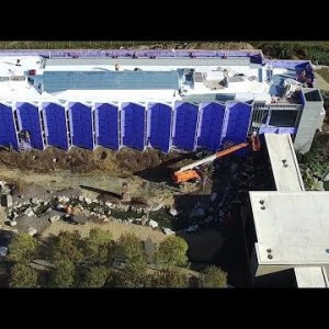 Aerial View of Red Oak Brewery Beer Hall & Packaging Facility Construction Update #3 - Whitsett, NC