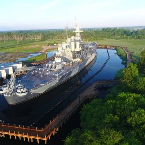 The Battleship USS North Carolina