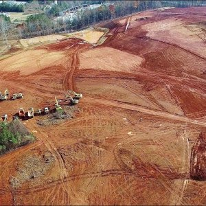 Aerial View of Collins Ridge Development - Hillsborough, NC