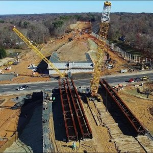 Latest Aerial Views of Lawndale Dr. & Cotswold Ave. Intersection Construction - Greensboro, NC