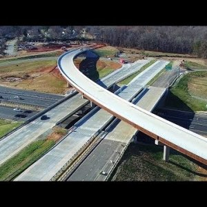 Latest Aerial Views of I-785/I-840 NE Urban Loop Interchange Construction - Greensboro, NC