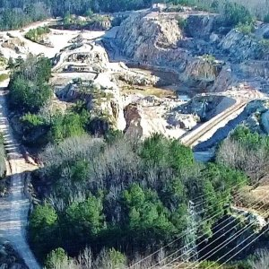 Aerial View of Piedmont Minerals Quarry - Hillsborough, NC