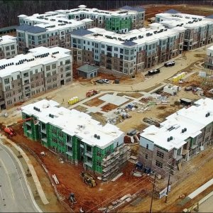 Latest Aerial Views of Carraway Village Construction at NC 86 & Eubanks Rd - Chapel Hill, NC