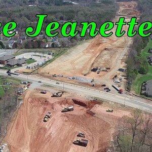 Aerial Views of the Lawndale Dr. to Elm St. Section of the Urban Loop Construction - Greensboro, NC