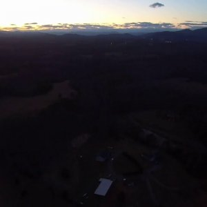 Goodview Sunset drone footage