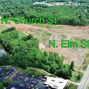 Aerial Views of N. Church St. to Lawndale Dr. Along the Urban Loop Construction - Greensboro, NC