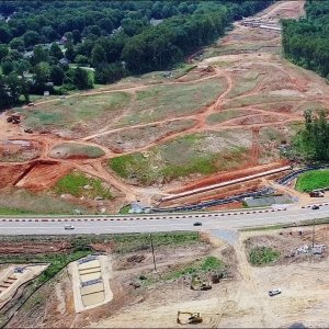 Aerial Views of N Elm St to Lake Jeanette Rd Along the I-840 Urban Loop Construction - Greensboro NC