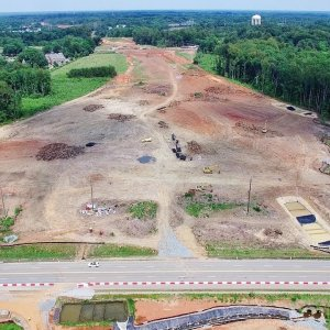 Aerial Views of N Elm St to Yanceyville Rd Along the I-840 Urban Loop Construction - Greensboro NC