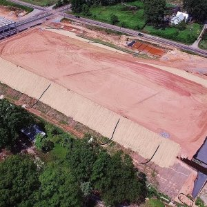 Aerial Views of Lees Chapel Rd to Yanceyville St. Along the I-840 Urban Loop - Greensboro, NC