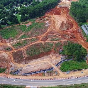 Updated Aerial Views of Yanceyville St to N Elm St Along the I-840 Urban Loop - Greensboro NC