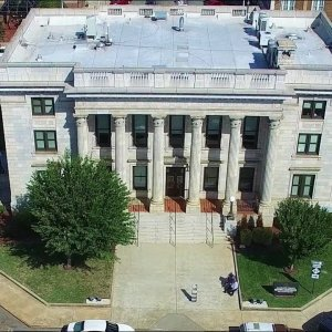 Aerial Tour of Alamance County Historic Courthouse - Graham, NC