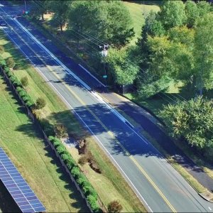 Updated Aerial Views of the Elon to Burlington Greenway Construction - Burlington, NC