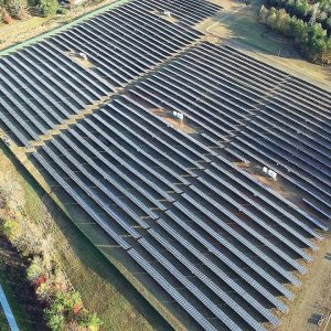 Aerial Views of Stout Solar Farm - Efland, NC