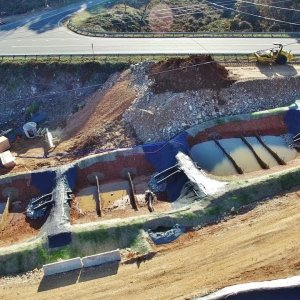 Aerial View of US-70 Bypass Bridge Construction - Hillsborough, NC