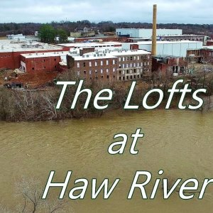 Aerial View of the Lofts at Haw River & Smokestack Renovation - Haw River, NC