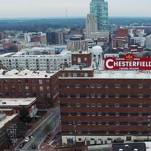 The Old & the New - Aerial Views of Downtown Durham, NC