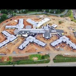 Latest Views of New Coble Creek Healthcare and Rehabilitation Center Construction - Burlington, NC