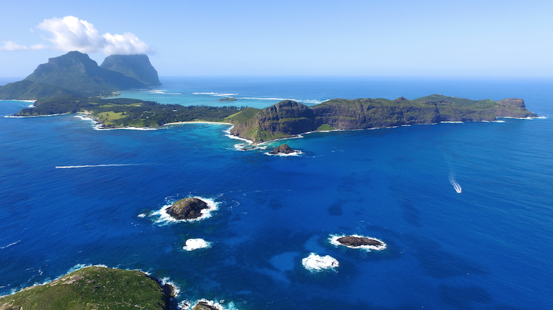 2km flight off Lord Howe Island cliff edge