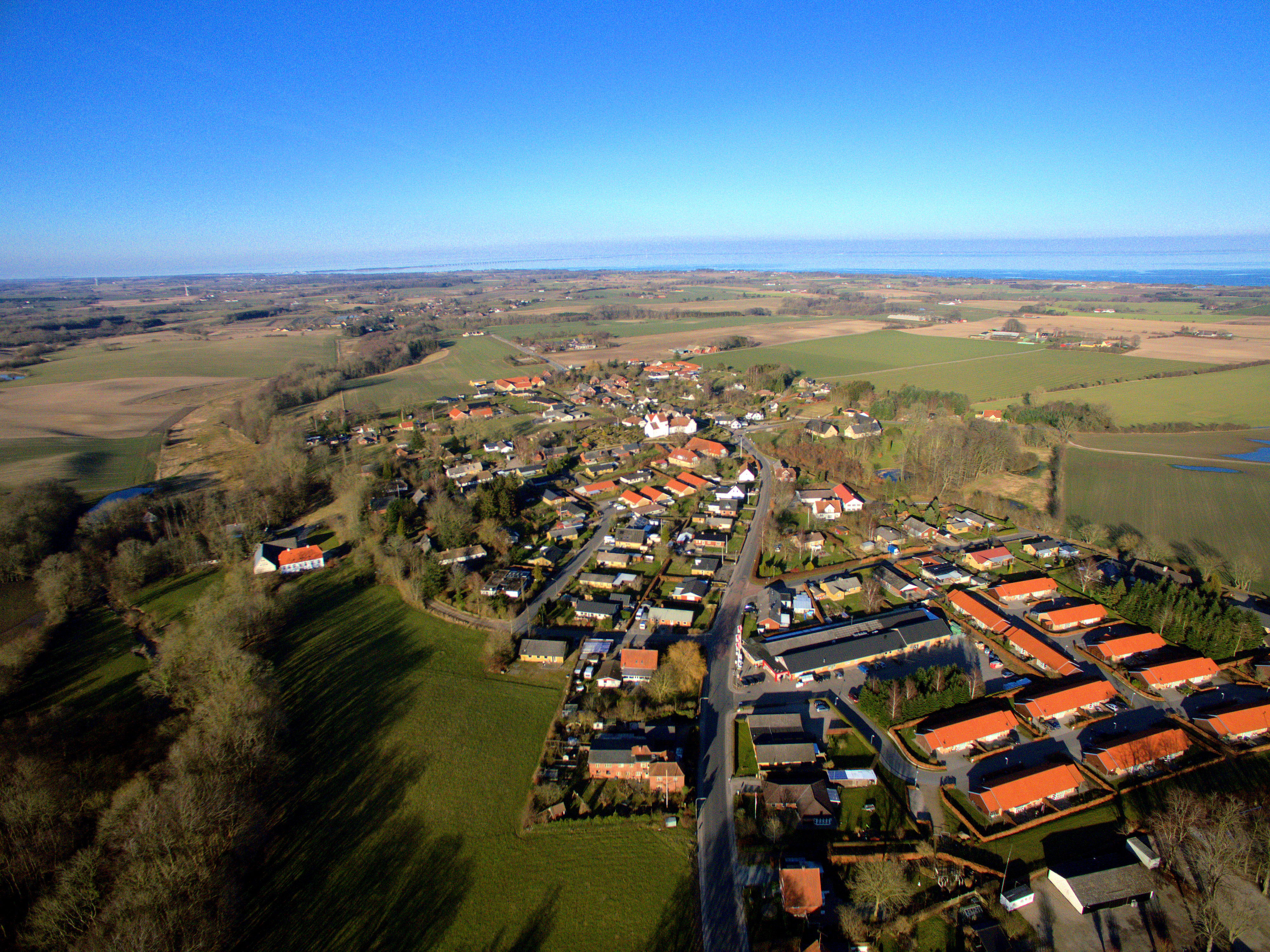 Arial View Of Hesselager - Denmark
